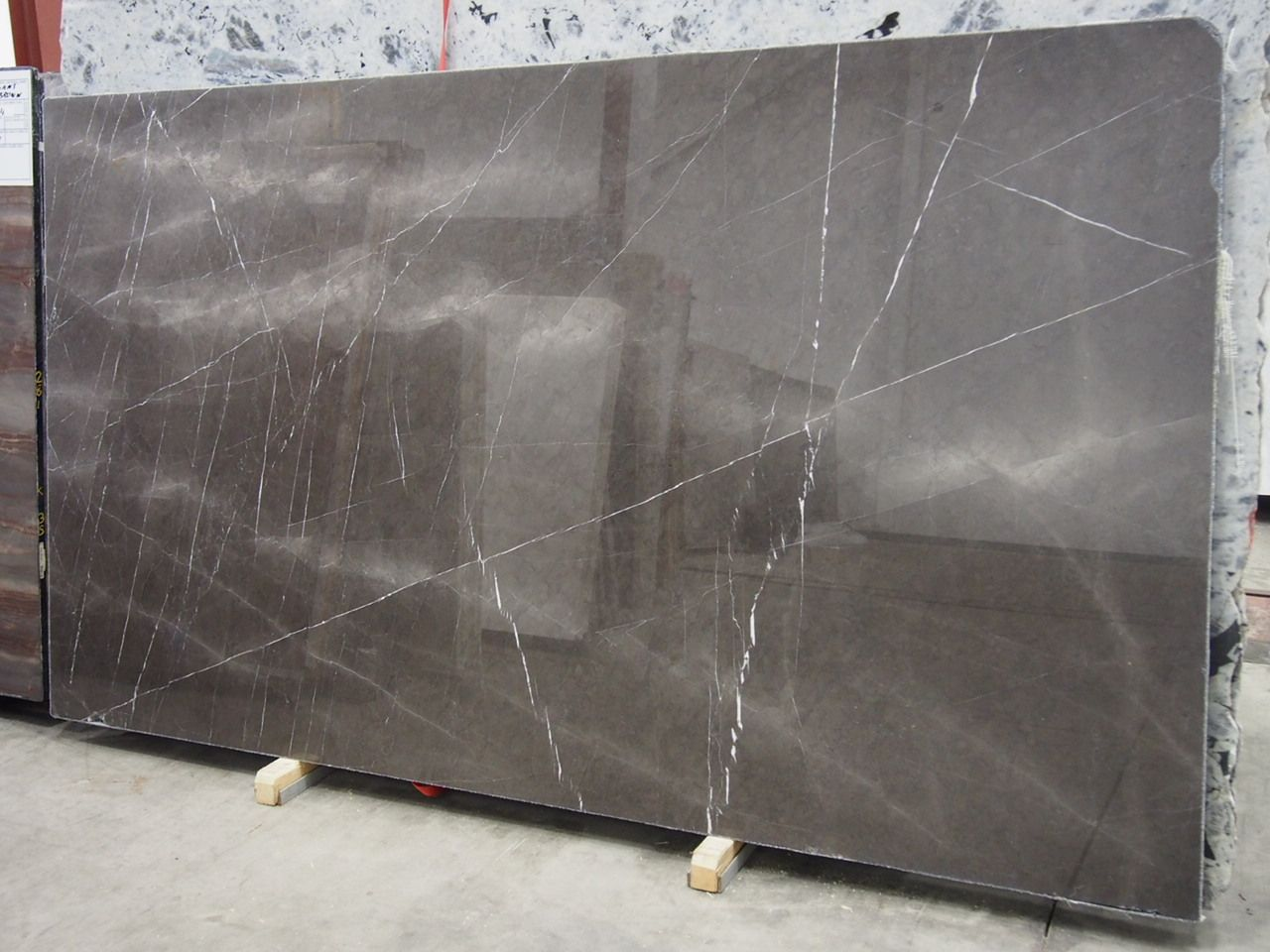 Pietra Grey Marble Slab Sold By Milestone Size 110 X 64 3 4 Inches