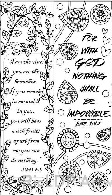 8 Bible Verse Coloring Bookmarks   Pinturas acrílicas, Marcadores de ...
