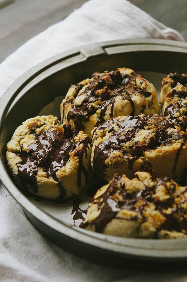 Dark Chocolate Pumpkin Butter Cinnamon Rolls with Fleur de ...