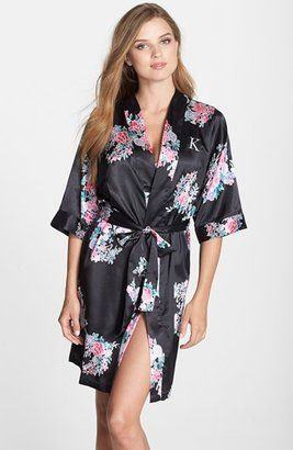 b0e72f16b0 ... CATHYS CONCEPTS Personalized Floral Satin Robe best service 31bff c91e1  . ...