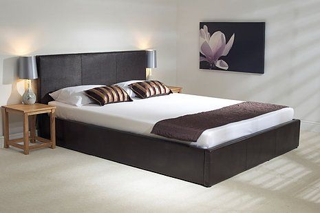 Genoa Brown Ottoman Bedstead Bed Frame With Mattress Ottoman Bed Bed