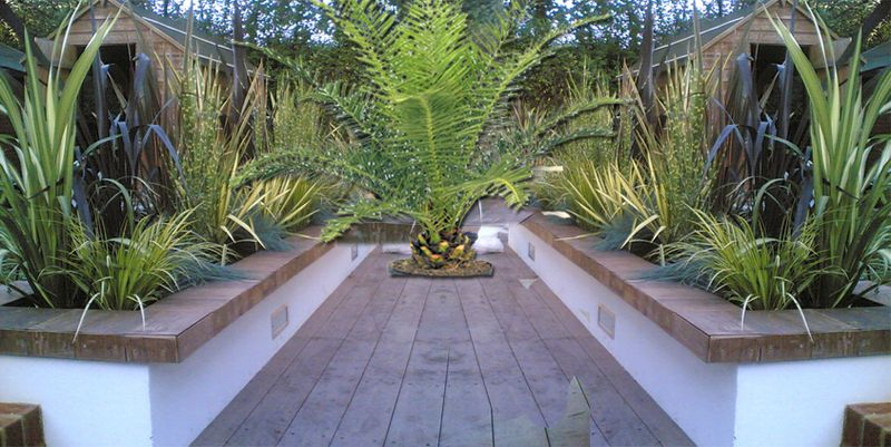 Rendered wall with good planting outdoors pinterest for Rendered garden wall designs