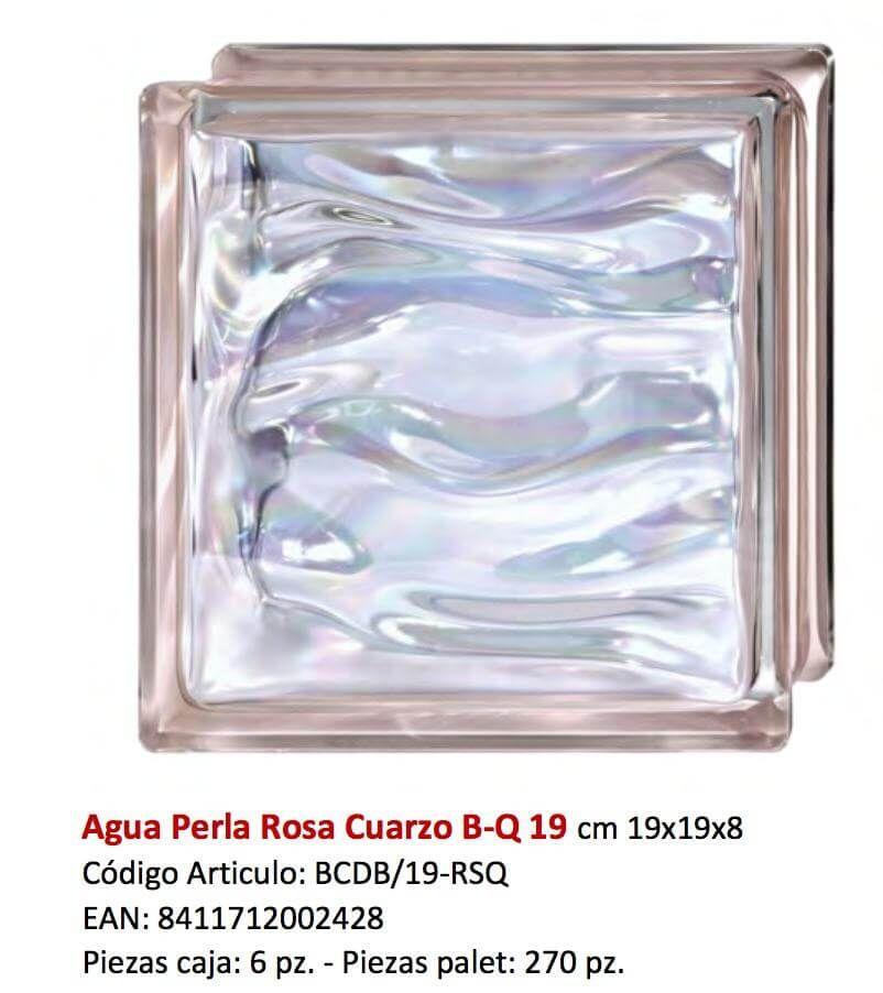 Brique de verre rose vague brillant brique pav de - Montage brique de verre exterieur ...