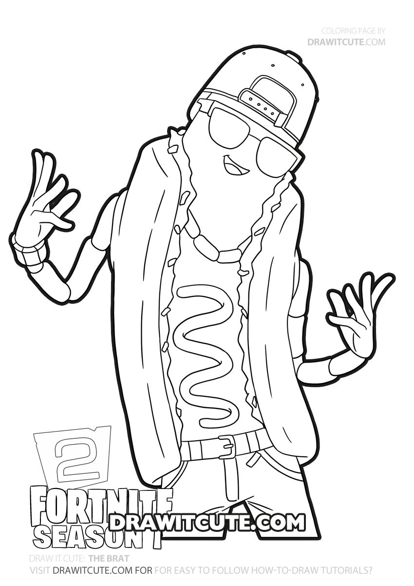 How To Draw The Brat Fortnite Chapter 2 Draw It Cute Coloriage A Colorier Coloriage A Imprimer Coloriage Garcon