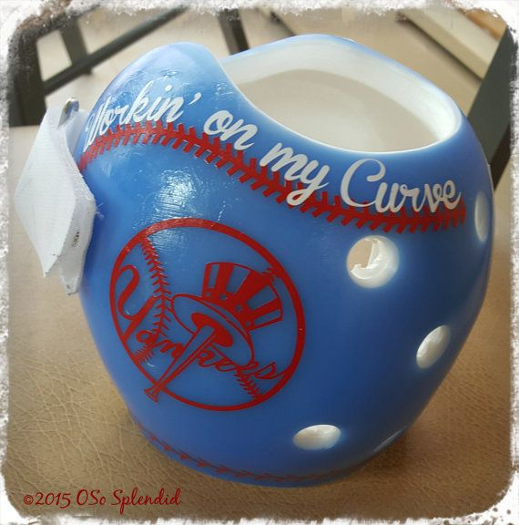 Personalized Red White Or Blue Cranial Band Baseball