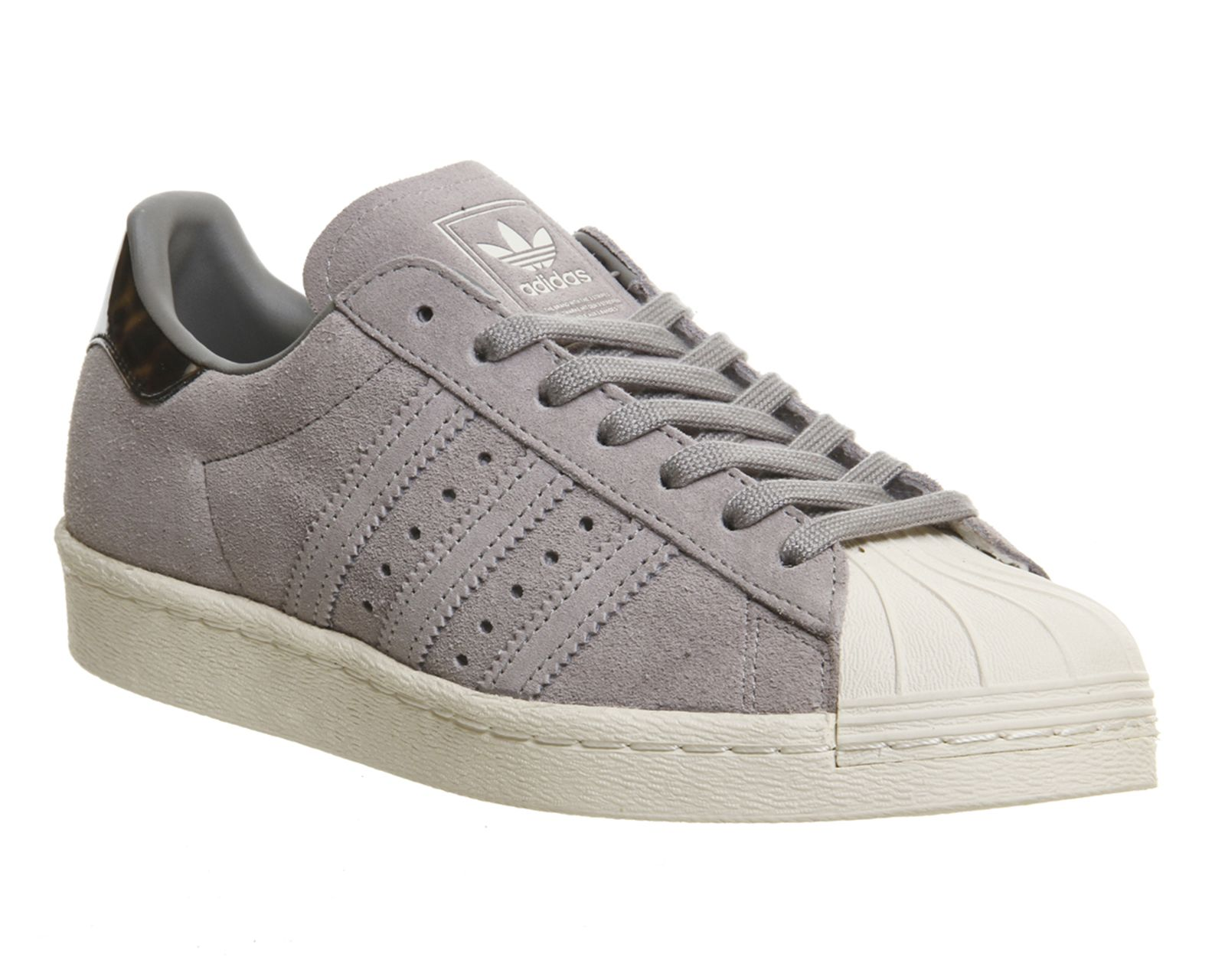 Adidas Superstar 80s Solid Grey Tortoise Shell - Unisex Sports