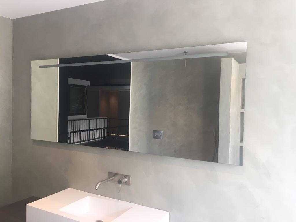 Badkamer Met Betonstuc : Beton ciré als achterwand in de badkamer stijlvolwonen betonstuc
