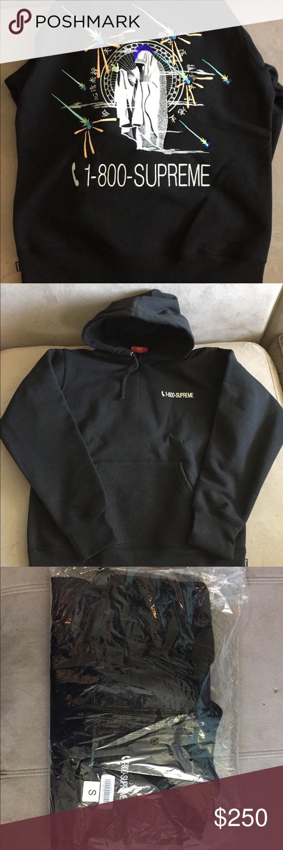 Supreme 1 800 Hooded Sweatshirt Hooded Sweatshirts Sweatshirts Supreme Shirt [ 1740 x 580 Pixel ]