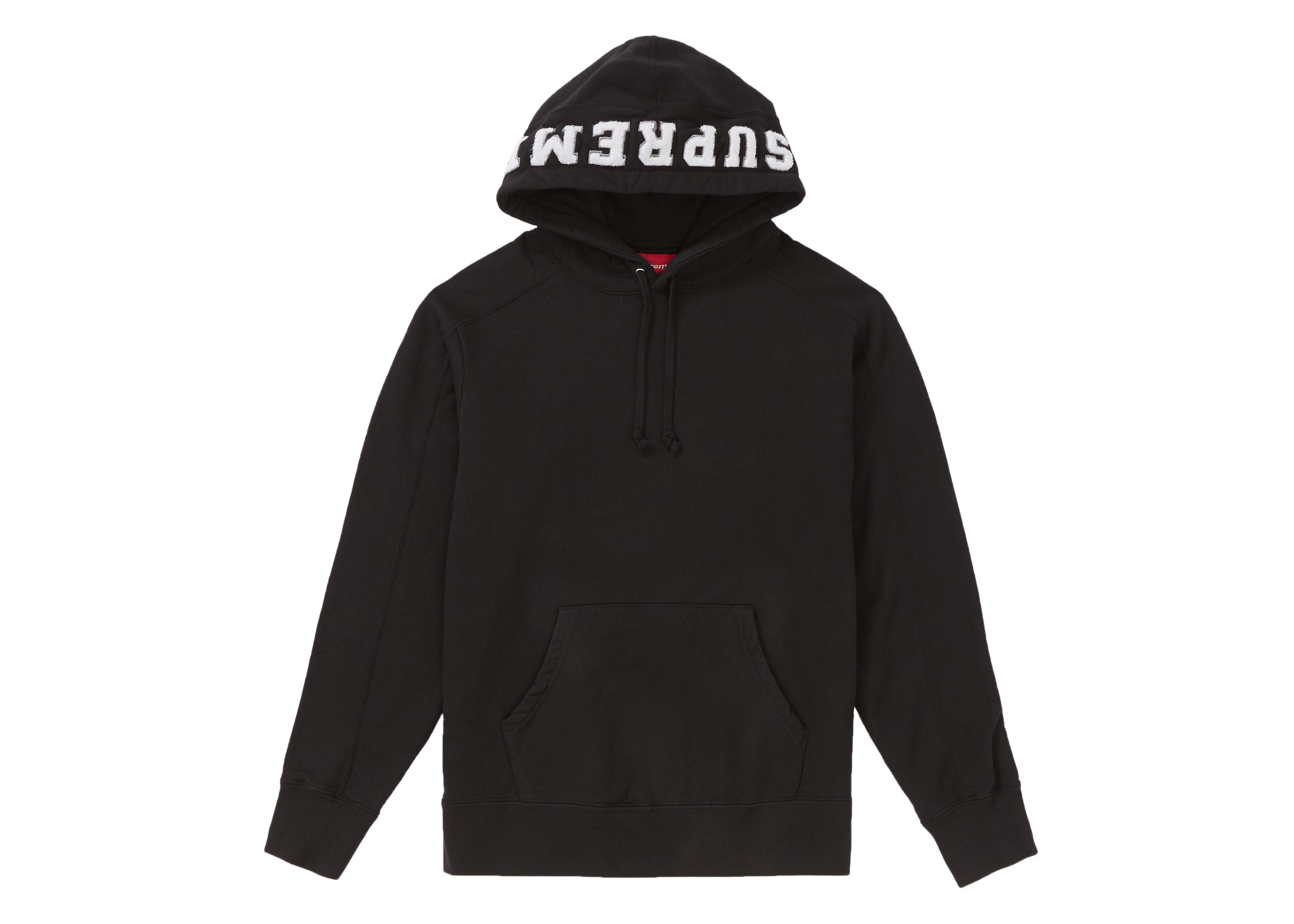 Supreme Paneled Hooded Sweatshirt Black Supreme Cloth Hooded Sweatshirts Black Sweatshirts Luxury Streetwear [ 2717 x 3804 Pixel ]