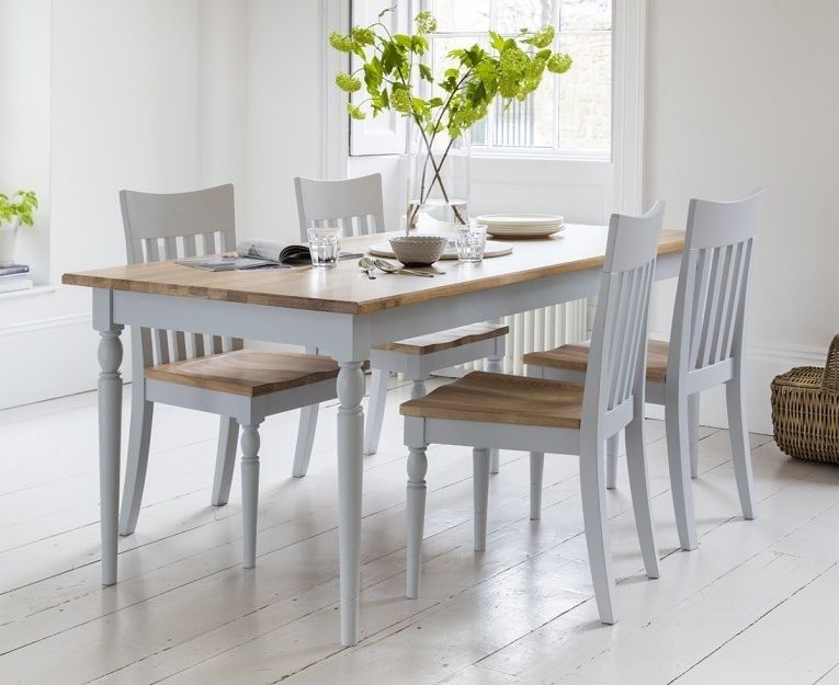 Gallery Direct Marlow Soft Grey Paint Dining Table