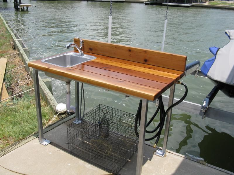 Fish cleaning station ideas google search fish for Homemade fish cleaning table