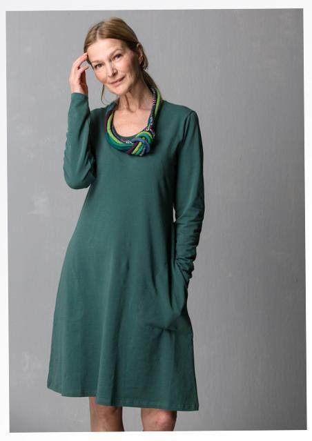 """Einfarbiges und bedrucktes Kleid """"Gunnel"""" aus Öko-Baumwolle/Elasthan 55700_55700-75.jpg"""