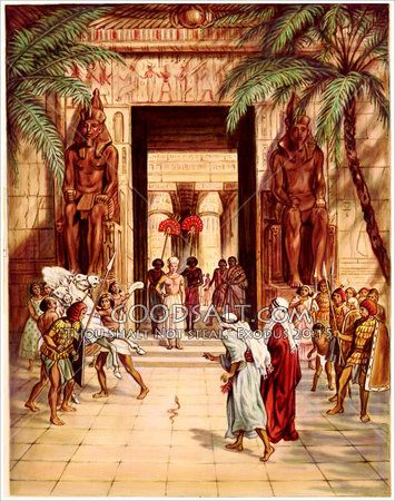 Moses And Aaron Before Pharaoh Plagues Of Egypt Bible
