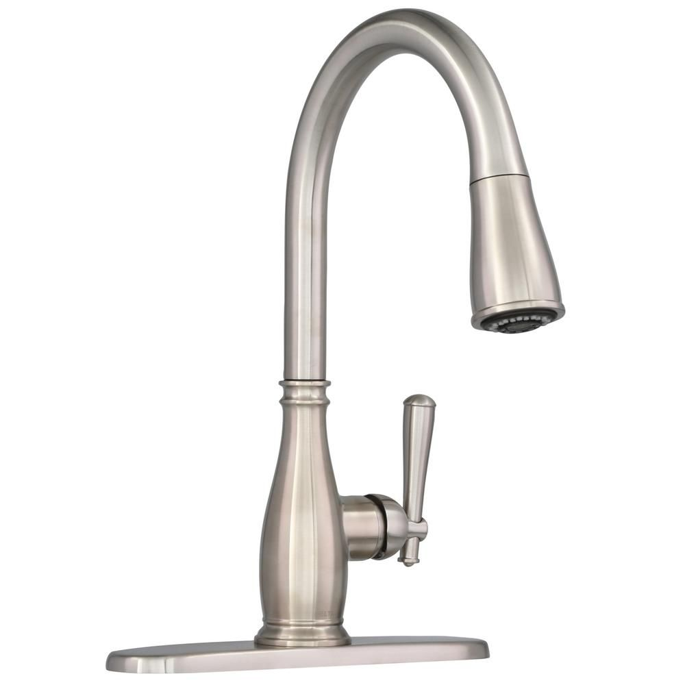Delta Charmaine Single-Handle Pull-Down Sprayer Kitchen Faucet with ...