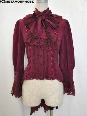 High Collar Swallowtail blouse, Metamorphose temps de fille.  $173