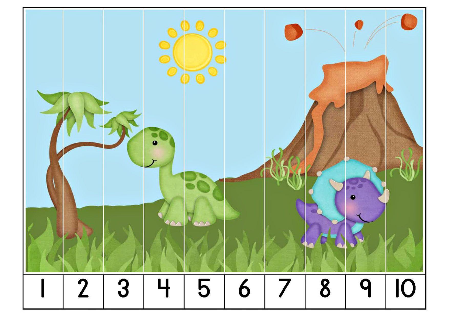 Разнообразные математические задания. Динозавры   Dinosaurs ...