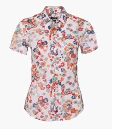 Bluse Marco Polo Blusen Kurzarm Shirt Modelle Mit Frohlich Bunten Blumen Beeindruckt Es Ist Billig Blusen Kurzarm Bluse Shirts