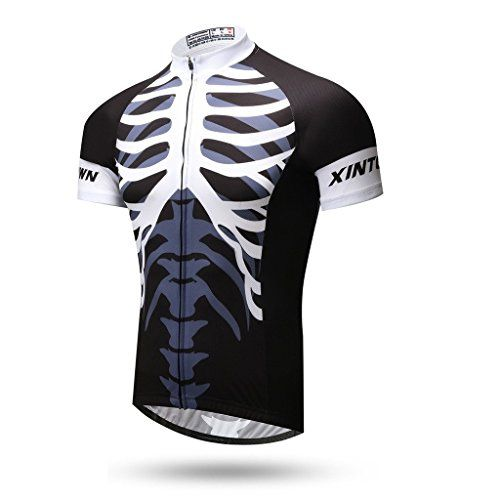 7721ac459 Spoz Men Skeleton Cycling Jersey Top XXL     Click image to review more  details.