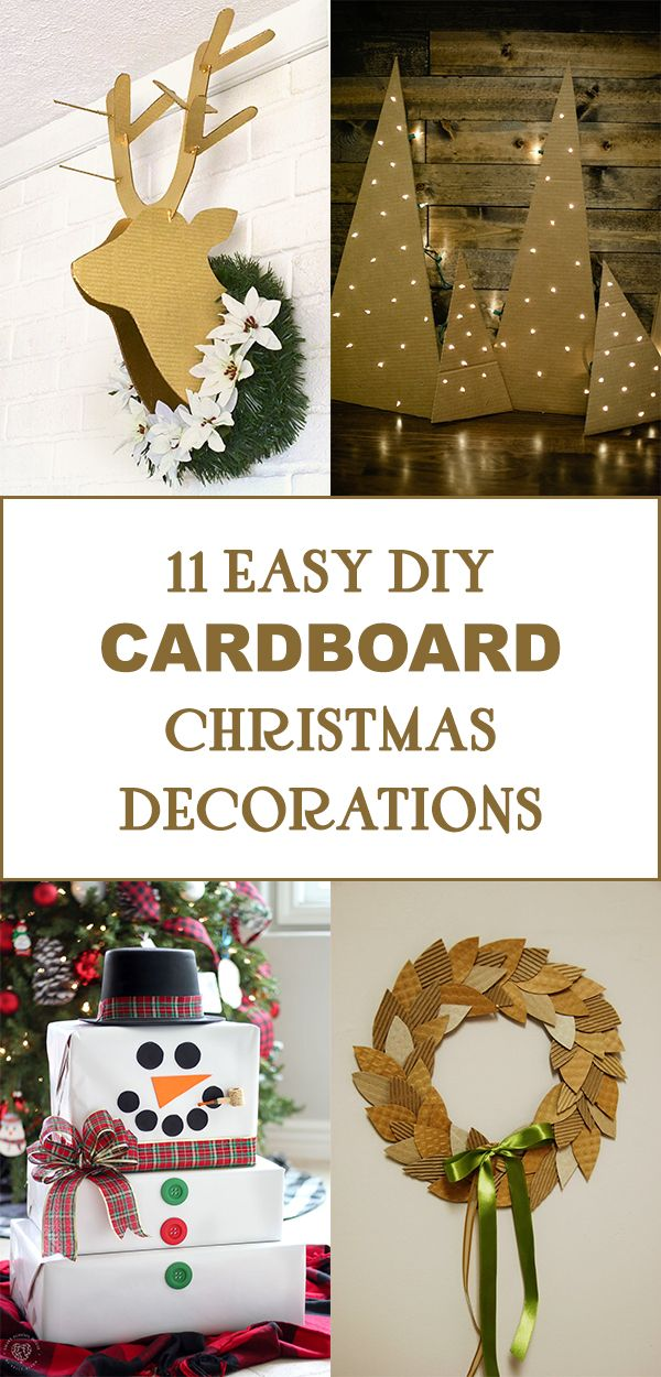 11 Easy Diy Cardboard Christmas Decorations Christmas Decor Diy