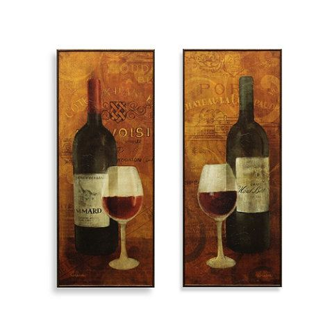 Vin Rouge Wine Wall Art - BedBathandBeyond.com