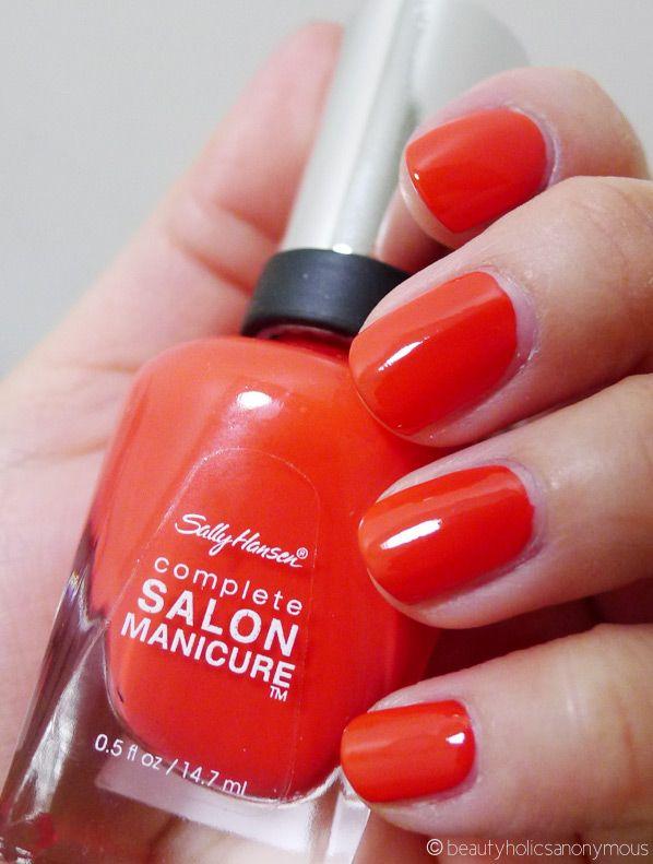 Sally Hansen Salon Manicure in Kook-A-Mango. Good summer color ...