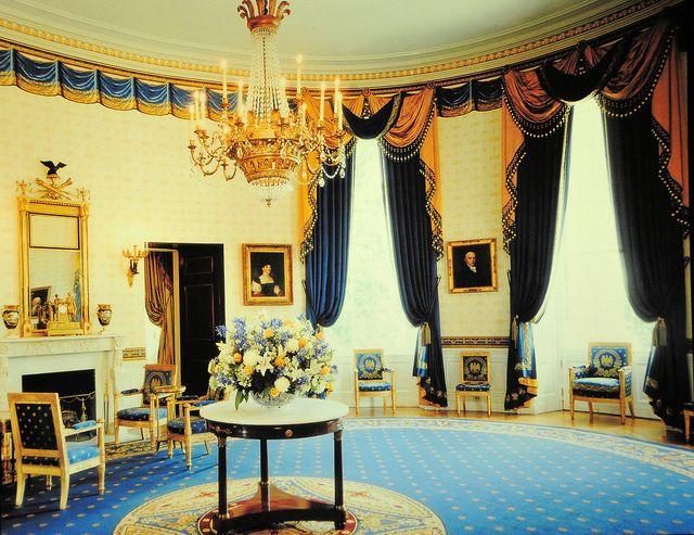 The White House Blue Room Washington Dc Blue Rooms House