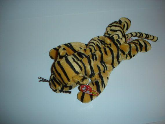 Vintage Stripes Tiger Ty Beanie Baby Original Style #4065   Vintage