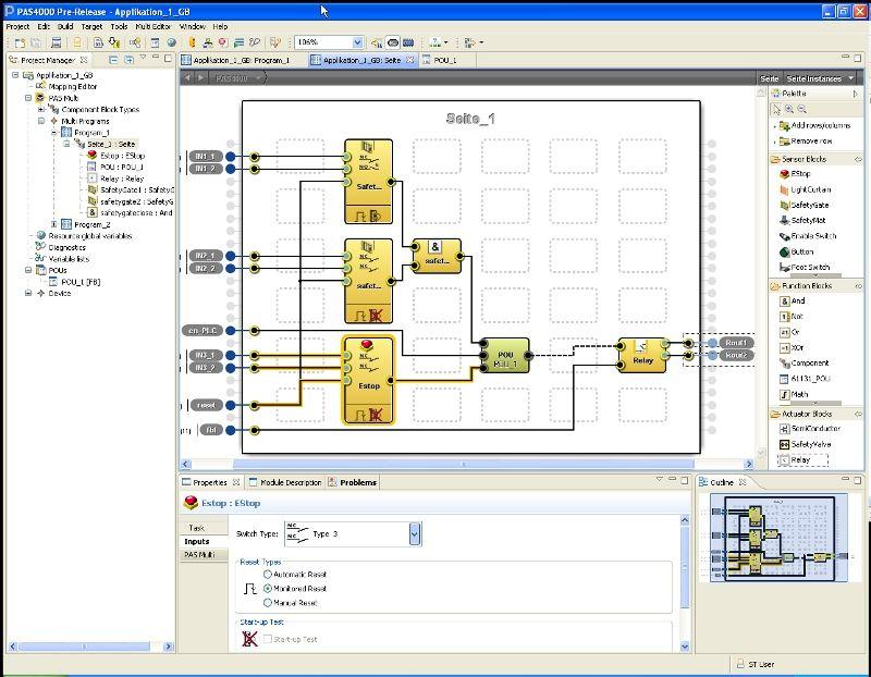 Program Editor PASmulti - drag and drop logic program | Visual