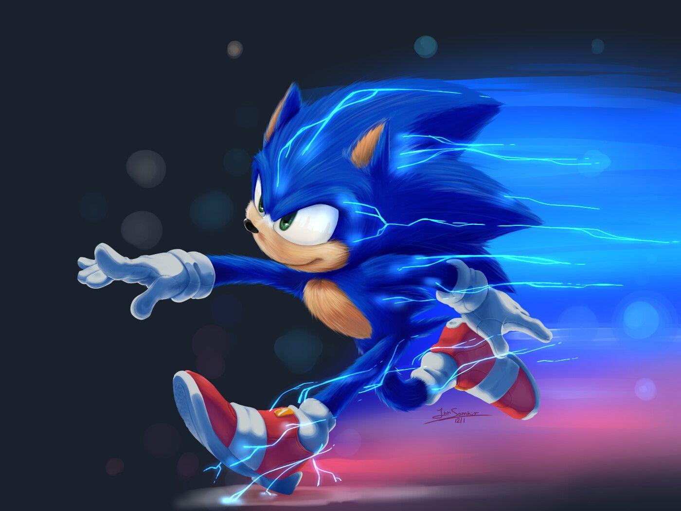 Fanart Sonic Movie Innsomnio Animator On Artstation At Https Www Artstation Com Artwork 58gbxj Sonic Sonic And Shadow Sonic Fan Art