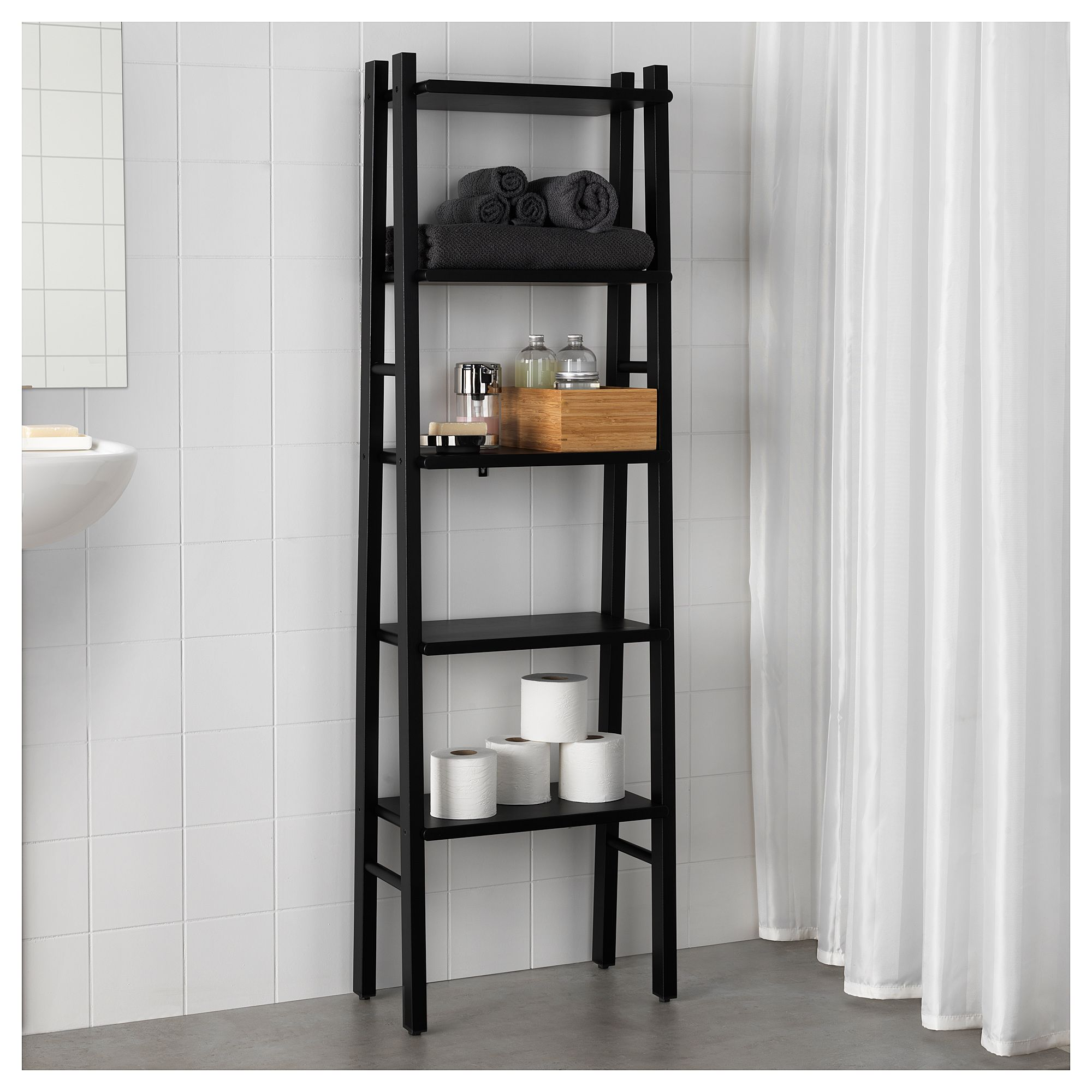 Etagere Toilette Ikea Étagère Vilto Noir In 2019 Bathroom Ideas Bathroom Shelf Unit