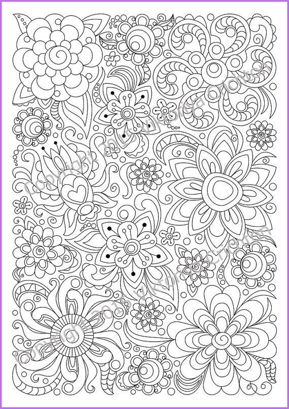 Abstract Doodle Zentangle Coloring pages colouring adult ...