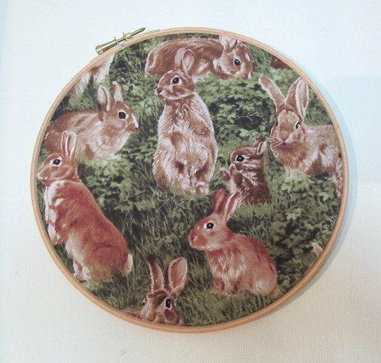 bunnies on the wall.
