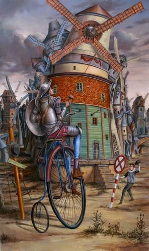 Tomek Sętowski / Painting / Fight with windmills
