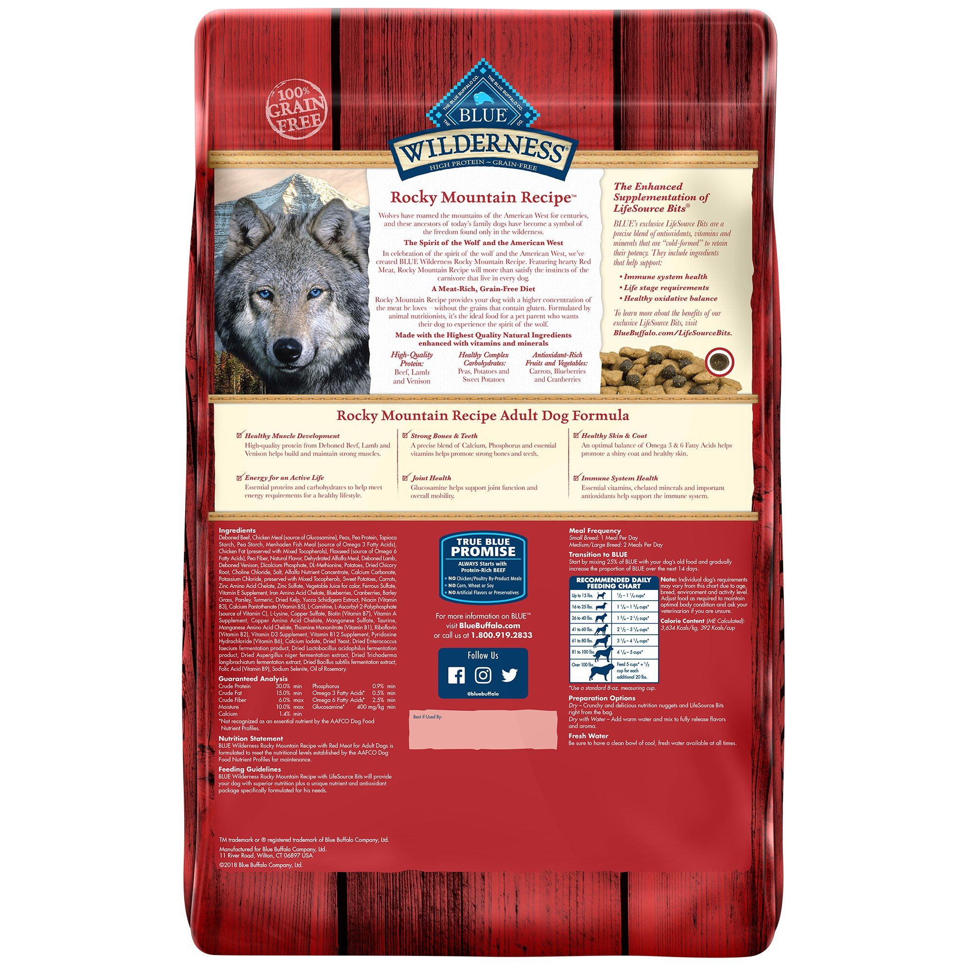 Blue Buffalo Blue Wilderness Rocky Mountain Recipe Adult Red Meat