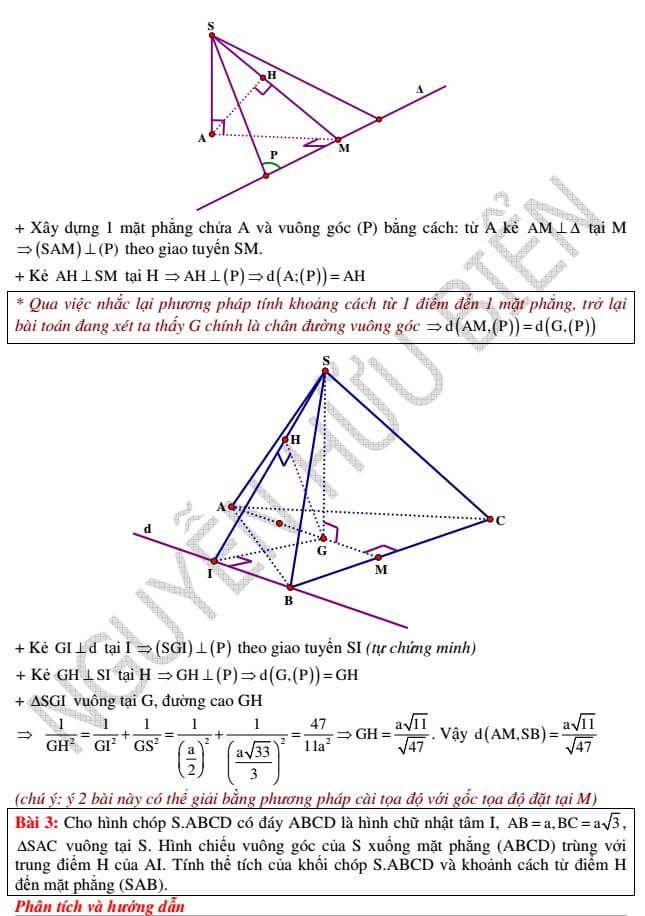 Tìm hiểu kỹ thuật đặc sắc giải Hình học không gian