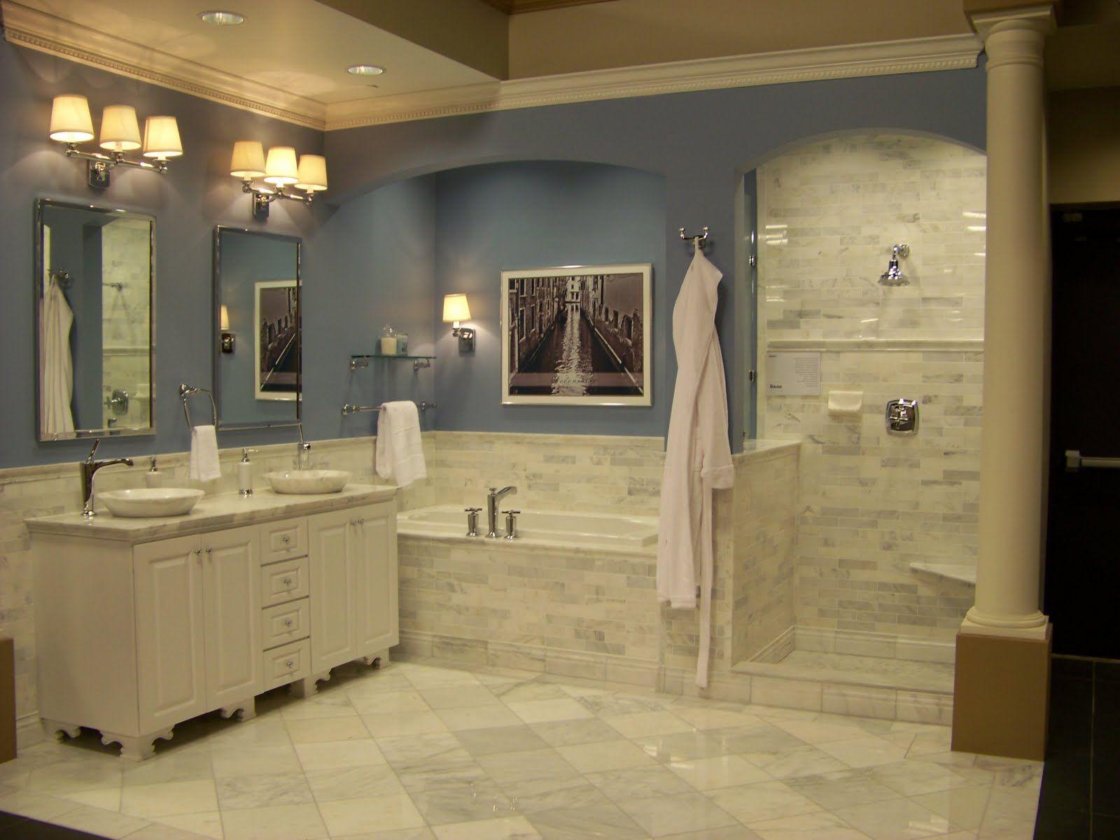 Ceramic subway tile that looks like marble carrara - Marble look bathroom floor tiles ...