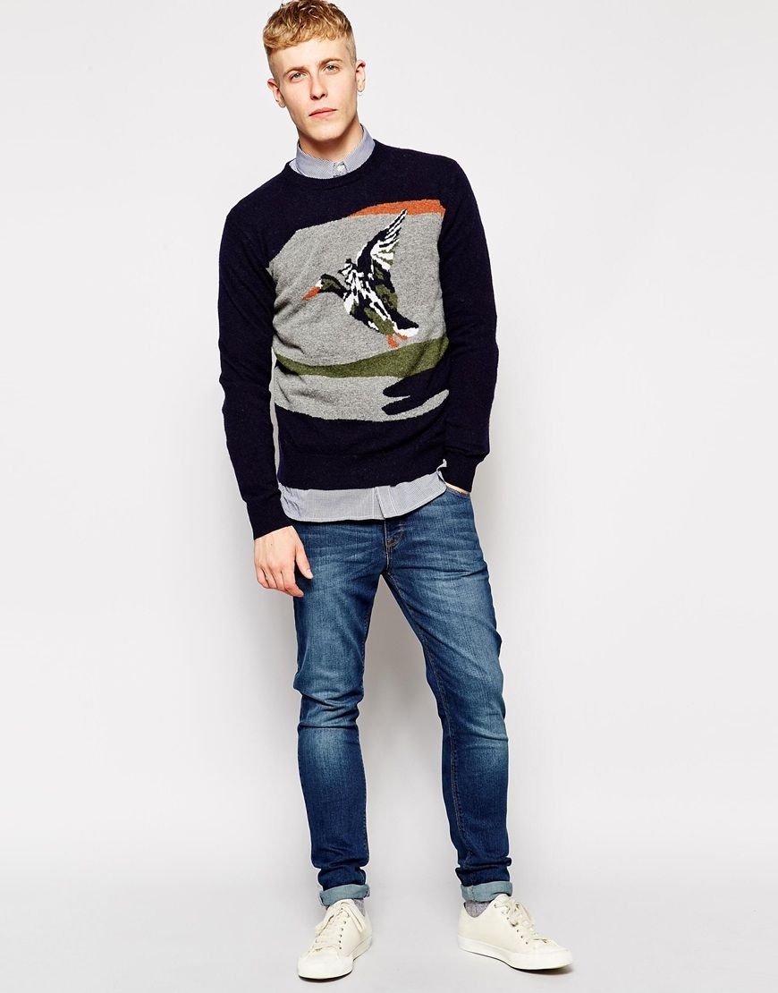 French Connection Mens Long Sleeve Graphic Sweatshirt