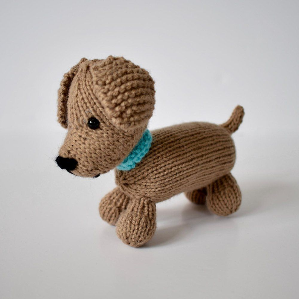 Loyal Puppy Knitting Pattern By Amanda Berry Knitted Animals