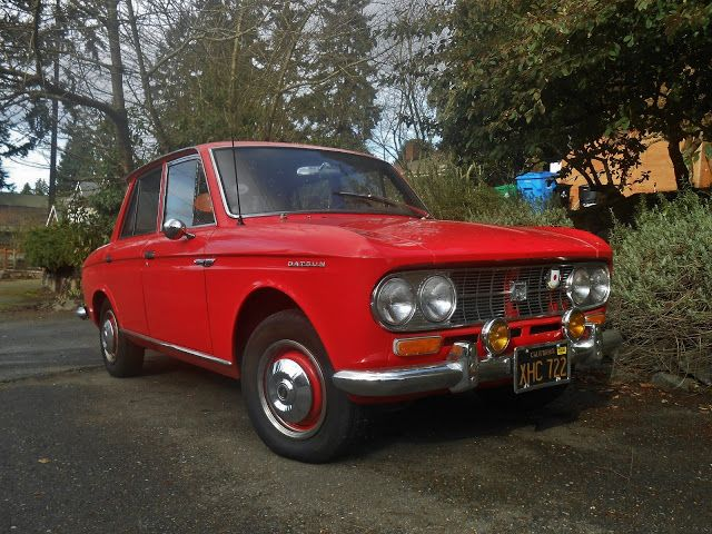 Seattle's Parked Cars: 1965 Datsun 411 Sedan