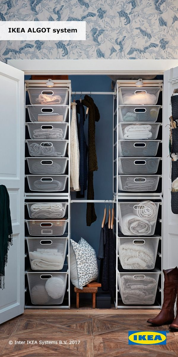 Cabina Armadio Algot Ikea.Customizable Wire Storage Can Organize What S Behind Closed Doors