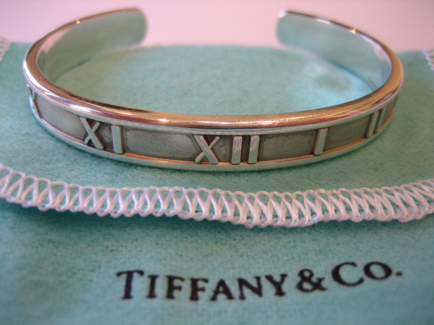 c4e6db2cc AUTHENTIC Vintage Tiffany & Co. Small Silver Atlas Roman Numeral Cuff  Bracelet Bangle by CLASSYBAG on Etsy