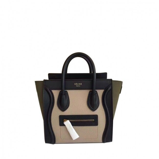 5b65e859c Original quality Celine nano luggage handbag in porcelain multicolour baby  grained calfskin