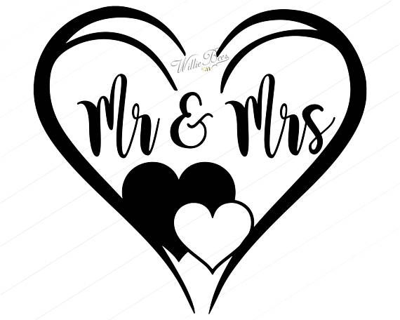 Wedding cut file Mr and Mrs SVG Bride and groom svg Marriage svg files for Cricut