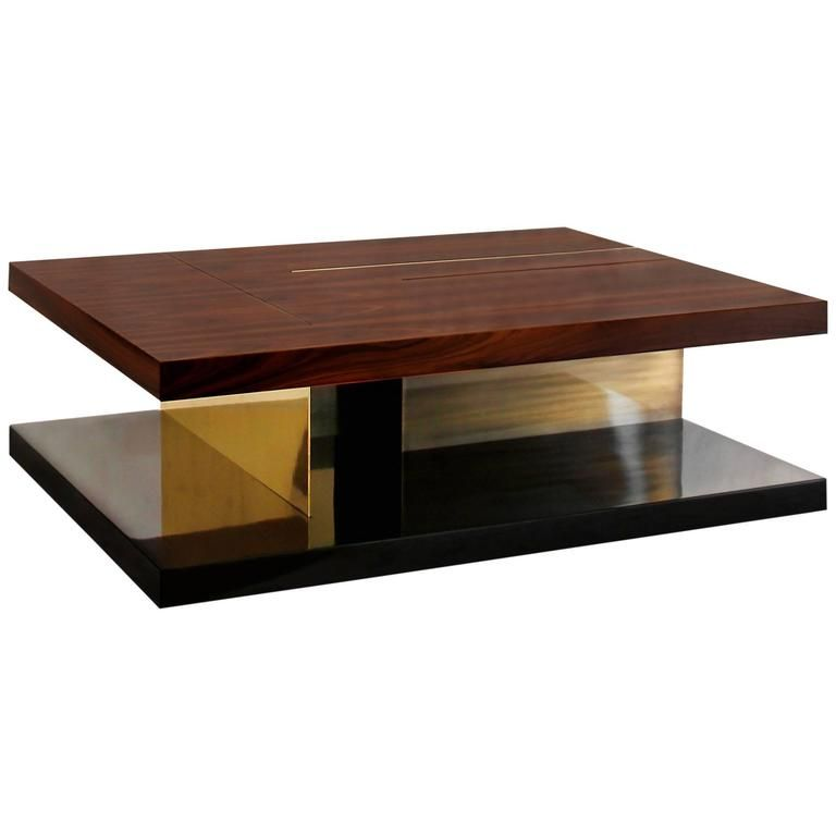 Chloe coffee table with high glossy lacquer veneer wood
