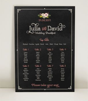 Lola Wedding Table Plan