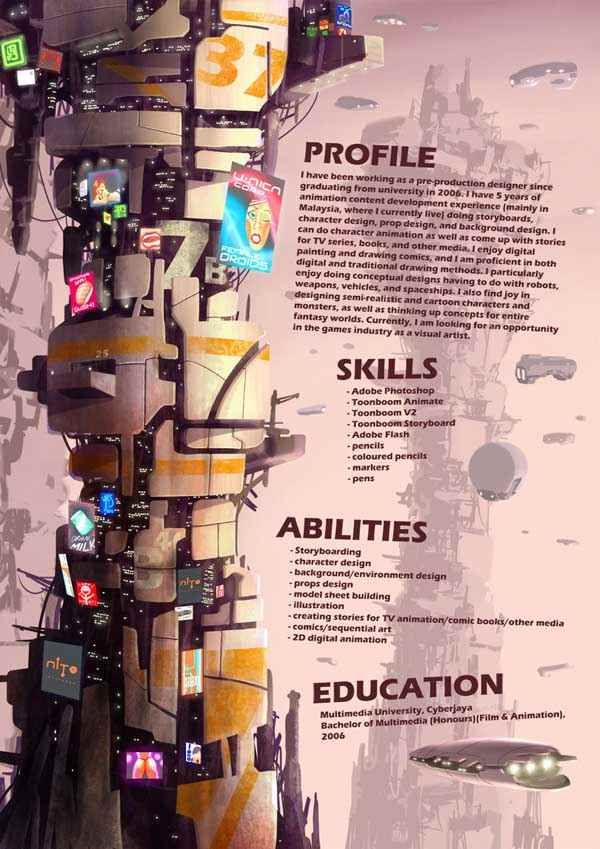 My Resume Pg02 By Joulester Creative Resume Creative Cv Resume Design Free