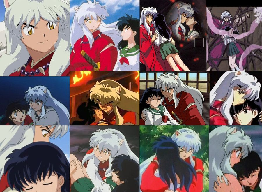 InuYasha and Kagome moments screenshots from InuYasha