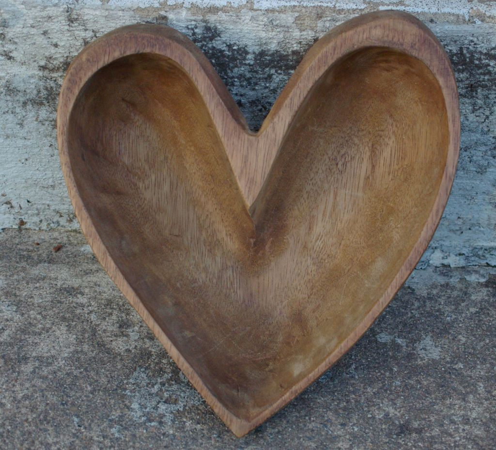 Rustic Heart Shaped Wooden Bowl Wooden Bowls Wooden Hearts Heart Shapes