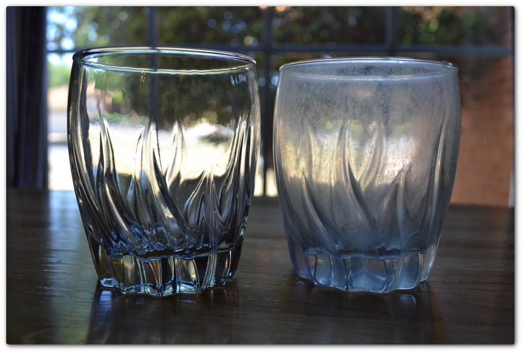 Get Stubborn Water Stains Off Of Your Glasses Fast