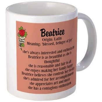 Beatrice Name Meaning Design Mugs